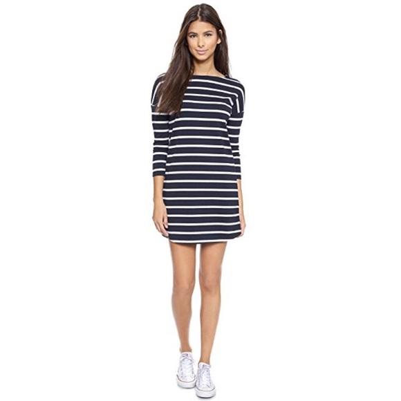 BB Dakota Dresses & Skirts - BB Dakota Navy Blue & White Striped Dress Size XS